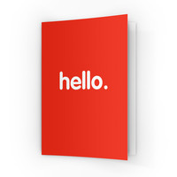 Hello A6 Greeting Card by textGuy