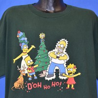 90s Simpsons Christmas D'oh Ho Ho t-shirt Extra Large