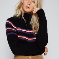 Free People Love Me Stripe Pullover