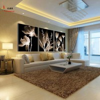 Modern 3 Panel Canvas Abstract Oil Painting Modular Picture Mural Wall Art Pictures For Living Room HD Print Flowers Paintings