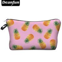 Deanfun 3D Printing Women Cosmetic Bags With Multicolor Pattern Makeup Bag Cute Cosmetics Pouchs For Travel