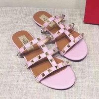 Valention rivet Slippers  Casual Fashion Women Sandal Slipper Shoes H-ALXY