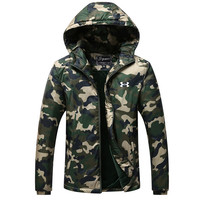 UNDER ARMOUR  Men's fashion leisure camouflage hooded cardigan Thickening cotton-padded clothes
