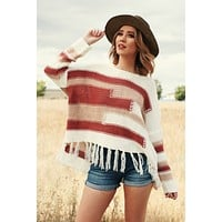 Either Way Knitted Sweater (Cream)