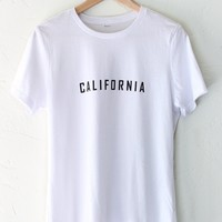 California Relaxed Tee - White