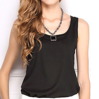 Candy Color Chiffon Tank Top