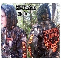 Country Life Outfitters Tree Camouflage Camo Realtree Deer Skull Head Hunt Vintage Unisex Hoodie