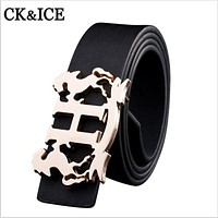 2016 Belt new arrival men brand designer PU belts for business men and women which high quality luxury Smooth buckle Jeans Belts