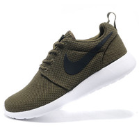 NIKE Women Men Running Sport Casual Shoes Sneakers Army green