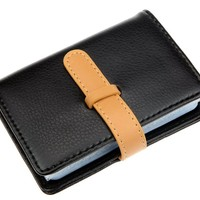 DEEZOMO High Quality PU Leather Credit Card Holder with 26 Card Slots