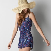 AEO FLORAL BUTTON ROMPER