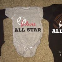 Boy Onesuits -  Body Suit - Glitter  - Onesuit - Ruffles with Love - Baby Clothing - RWL - Future All Star - Skull