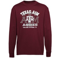 Texas A&M Aggies Youth Arch Fade Long Sleeve T-Shirt - Maroon