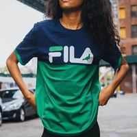 """FILA""Hot letters print T-shirt"
