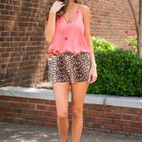 On The Prowl Shorts, Tan