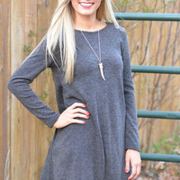 Attention Getter Gray Sweater Dress
