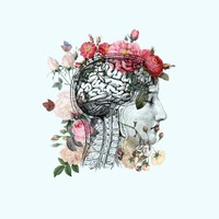 Beautiful Brain Art Print by Catherine Holcombe | Society6
