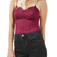 Topshop Scalloped Lace Bodysuit (Regular & Petite) | Nordstrom