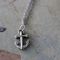 Sterling Silver Anchor Down Necklace