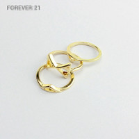 Ladies Ring Geometric Gold Set [4989602436]