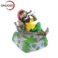 ONUOSS Creative Bob Marley Shape Fashion Personalized Resin Ashtray Smoking Accessories Decoration Gift Ashtray for Car 111S