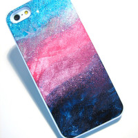 iPhone 6 iPhone 5s iphone 4/4s abstract painting phone cover, unique mobile accessories, real glitter