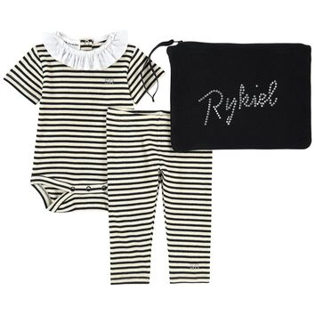 Baby Girls Romper and Pants Two-Piece Gift Set