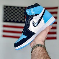 Nike Air Jordan 1 High UNC Men's and Women's Sneakers Shoes