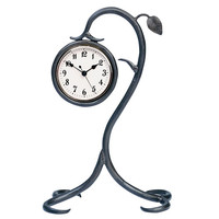 Stone County Ironworks 901227-901856 Leaf Antique Copper Table Clock  - (In Antique Copper)