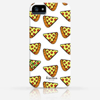 Pepperoni Cheese Pizza Pattern Food iPhone 4 Case, iPhone 4s Case, iPhone 5 Case, iPhone 5s Case, iPhone Hard Plastic Case