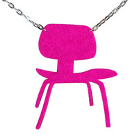 Wool felt Eames DCW chair necklace