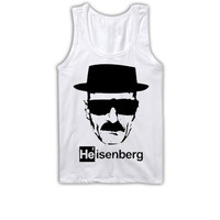 BREAKING BAD Heisenberg Unisex Tank Top Grey Walter White Tee Shirt