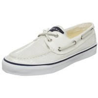 Sperry Top-Sider Women's Bahama Sequins Boat Shoe,White Sequins,8 M US