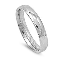 Unisex Stainless Steel Comfort Fit 4mm Wedding Band