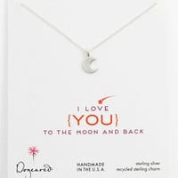 Dogeared 'Love - To the Moon & Back' Pendant Necklace   Nordstrom