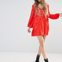 Free People | Free People Sweet Tennessee Embroidered Mini Dress at ASOS