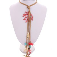 Casual Sea Style Starfish Pearl Necklace