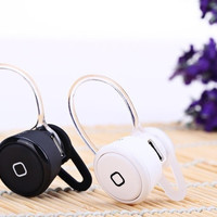 Silver Super Mini Wireless Bluetooth Earphone Ear-hook In-ear Headset Headphone with Mic for Smart phone Tablet PC = 1843151108