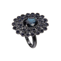 Faceted Stones Ring with Rhinestones not available