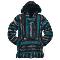 Teal Pullover Baja Hoodie on Sale for $21.95 at HippieShop.com
