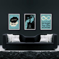 "The Fault In Our Stars Inspired Set - MOVIES COLLECTION - Minimalist Retro Poster 11""x17"", Digital Print"