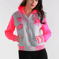 Orlando Baseball jacket in Grey - Womens Clothing Sale, Womens Fashion, Cheap Clothes Online | Miss Rebel