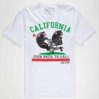 Riot Society Back To Cali Mens T-Shirt White  In Sizes
