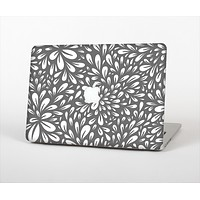 The Gray & White Floral Sprout Skin Set for the Apple MacBook Air 13""