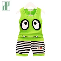 HH Baby boy clothes summer style baby girls clothing t-shirt+pants suit clothing set cartoon infant newborn baby outfit suits