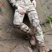 Camouflage Man Overalls Pants Pants Trousers