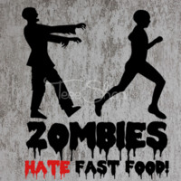 zombies hates fast food tshirt