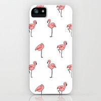 Flamingo iPhone & iPod Case by Annie Seo