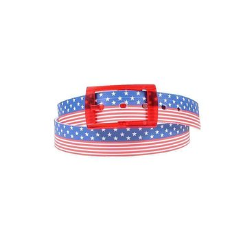 Americana Classic Belt with Red Buckle by C4 Belts