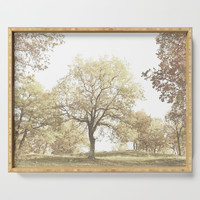 Autumn Trees Serving Tray by byjwp